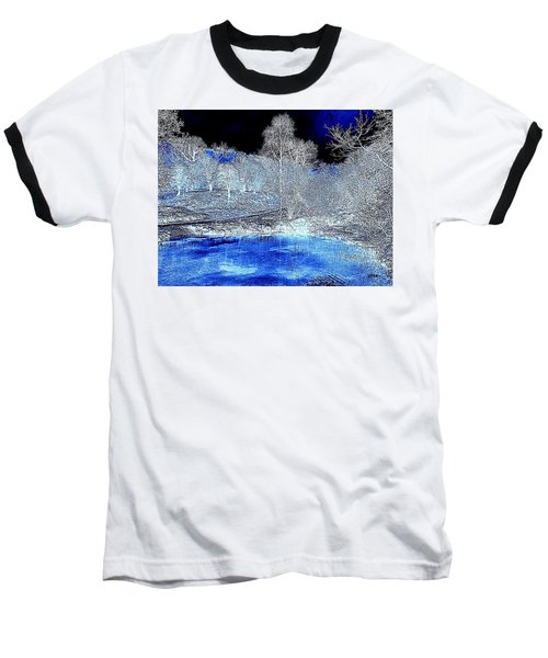 The  Pond In  Winter  -  Edit20-contest Baseball T-Shirt