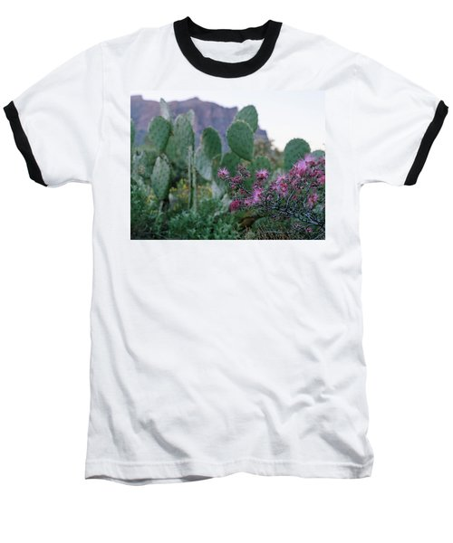 Baseball T-Shirt featuring the photograph The Vibrant Desert by Margaret Pitcher