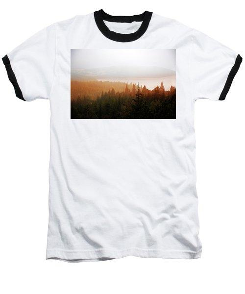 Baseball T-Shirt featuring the photograph Through The Mist by Milena Ilieva