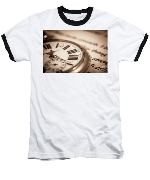 Time And Words Baseball T-Shirt