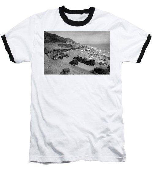 Topanga State Beach 1920 Baseball T-Shirt