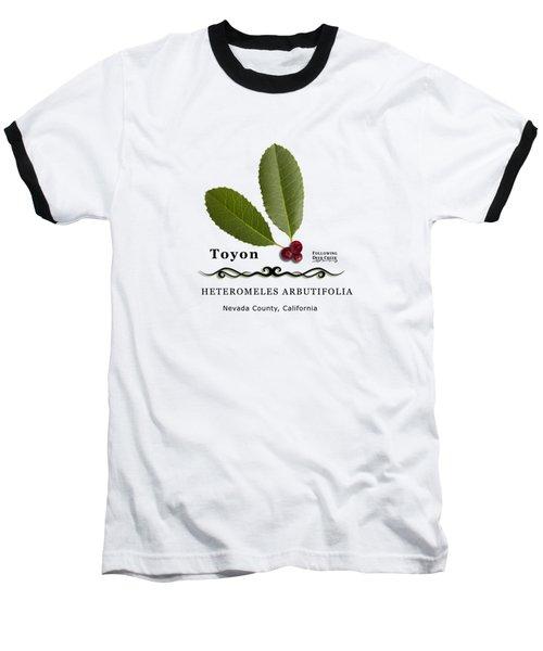 Toyon Christmas Berry Baseball T-Shirt