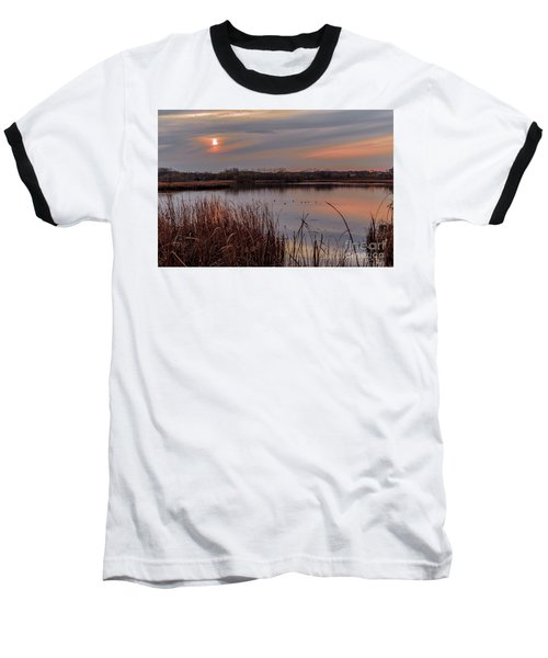 Tranquil Sunset Baseball T-Shirt