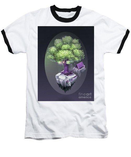 Tree And Hut  Baseball T-Shirt