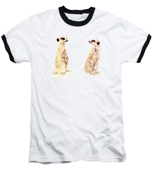 Two Meerkats Baseball T-Shirt