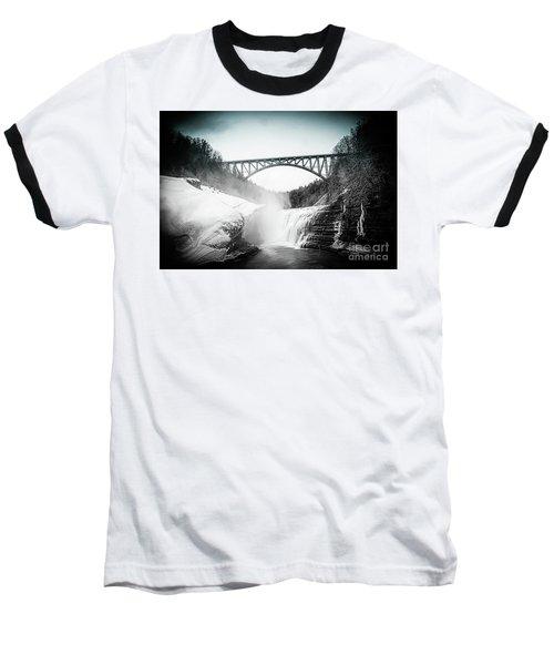 Upper Falls At Letchworth State Park Baseball T-Shirt