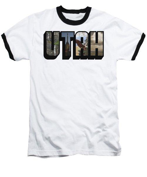 Utah Big Letter Baseball T-Shirt