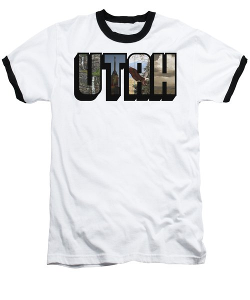 Utah Big Letter Baseball T-Shirt