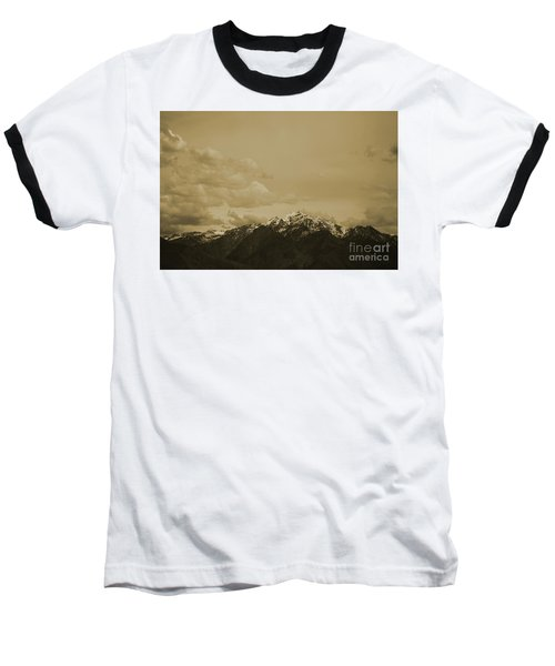 Utah Mountain In Sepia Baseball T-Shirt