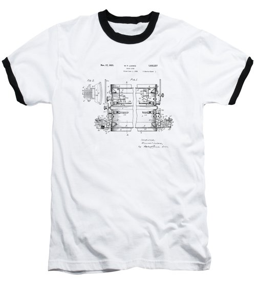 W F Ludwig Snare Drum Patent Baseball T-Shirt