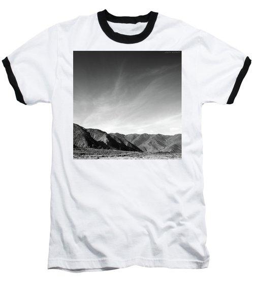 Wainui Hills Squared In Black And White Baseball T-Shirt
