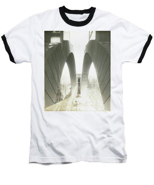 Walnut Lane Bridge Under Construction Baseball T-Shirt