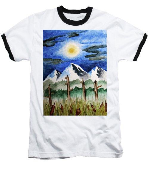 Wetlands With Mountains  Baseball T-Shirt