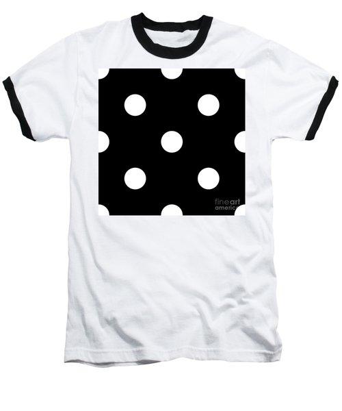 White Dots On A Black Background- Ddh612 Baseball T-Shirt