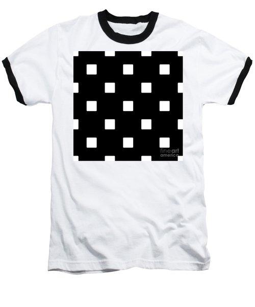 White Squares On A Black Background- Ddh576 Baseball T-Shirt