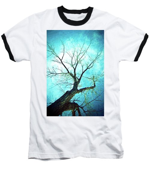 Baseball T-Shirt featuring the photograph Winter Tree Blue  by James BO Insogna