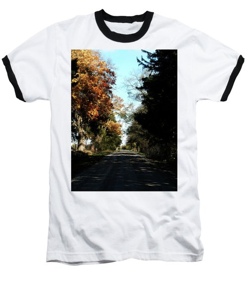 Ye Old Tracks Road Baseball T-Shirt