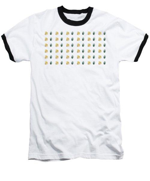 Yellow And Green Present Pattern Baseball T-Shirt