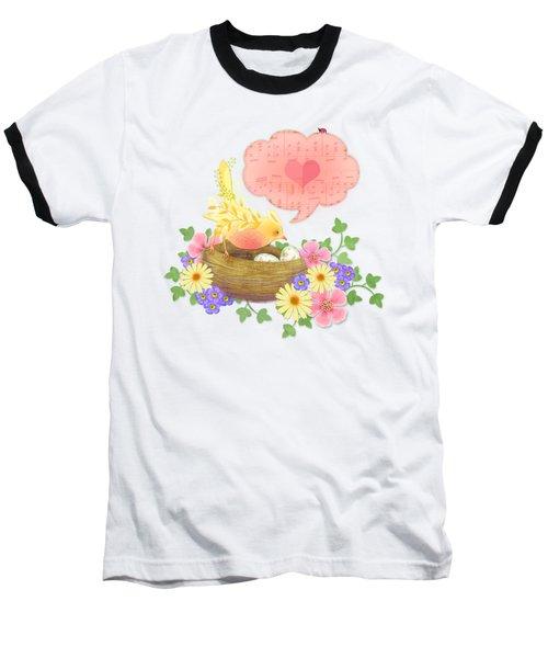 Yellow Bird's Love Song Baseball T-Shirt