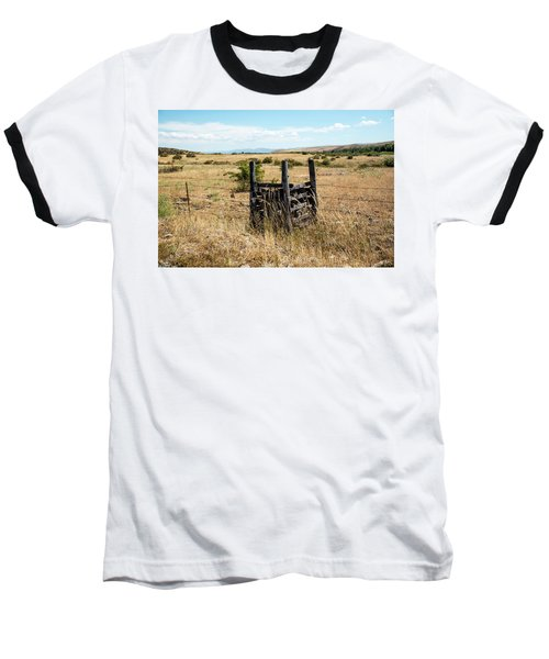 Yellow Grass And Fence Anchor Baseball T-Shirt
