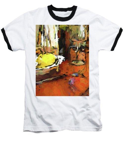 Yellow Lemon And The Wine Glass Baseball T-Shirt