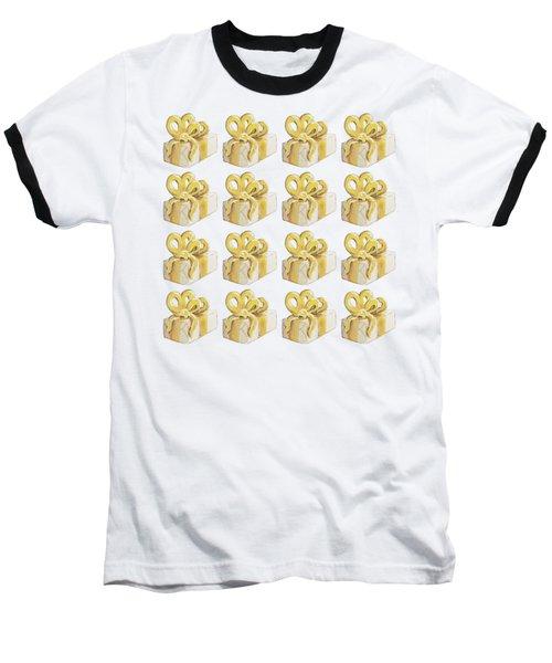 Yellow Presents Pattern Baseball T-Shirt