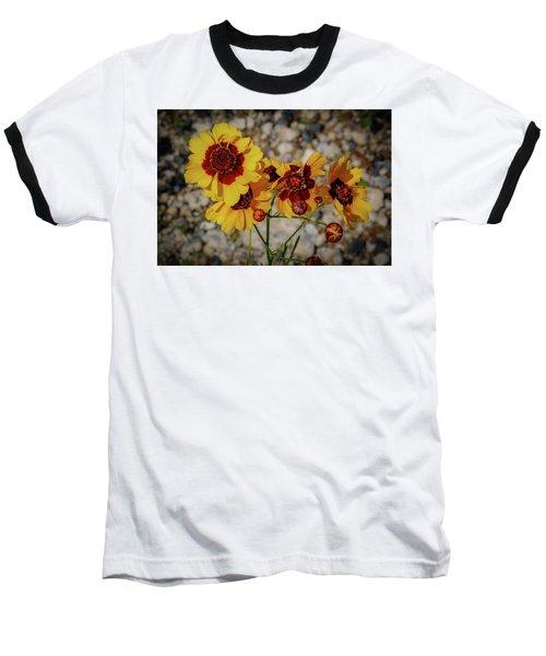 Yellow Wildflowers Baseball T-Shirt