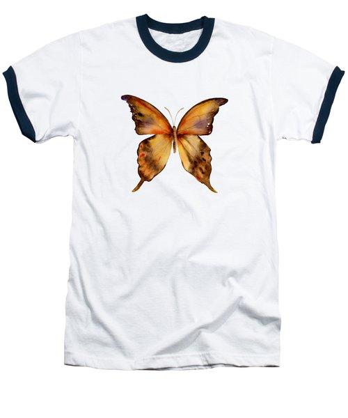 7 Yellow Gorgon Butterfly Baseball T-Shirt by Amy Kirkpatrick