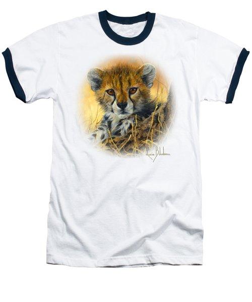 Baby Cheetah  Baseball T-Shirt by Lucie Bilodeau