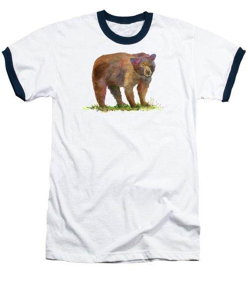 Bear Baseball T-Shirt by Amy Kirkpatrick