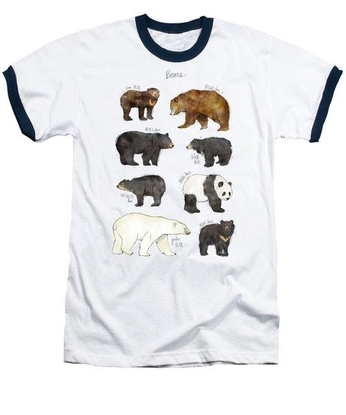 Bears Baseball T-Shirt by Amy Hamilton