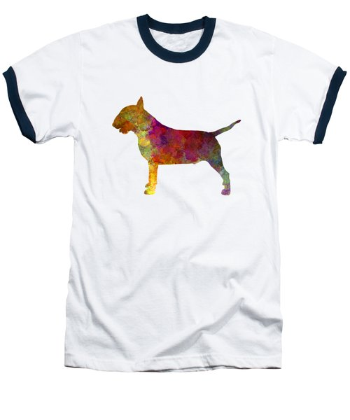 Bull Terrier In Watercolor Baseball T-Shirt by Pablo Romero