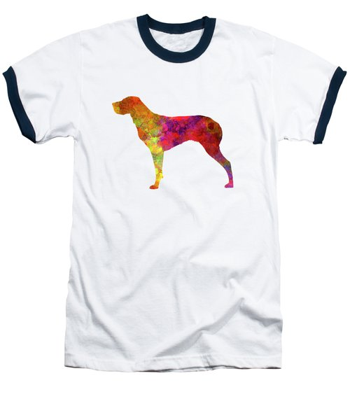 Burgos Pointer In Watercolor Baseball T-Shirt by Pablo Romero