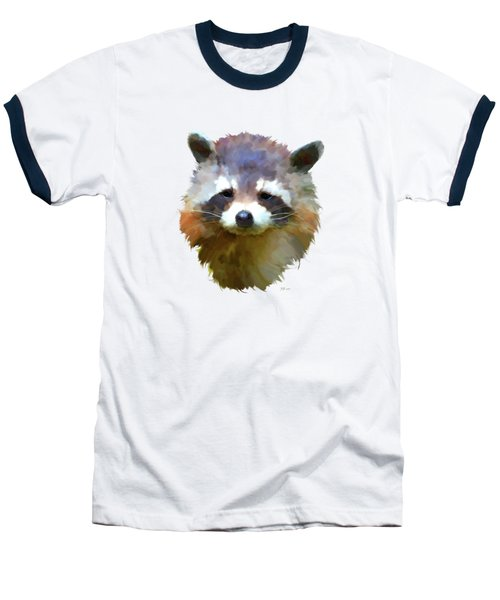 Colourful Raccoon Baseball T-Shirt by Bamalam  Photography