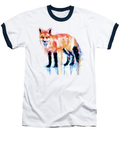 Fox  Baseball T-Shirt by Marian Voicu