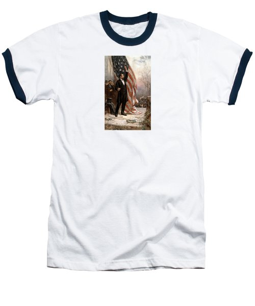 President Abraham Lincoln Giving A Speech Baseball T-Shirt by War Is Hell Store