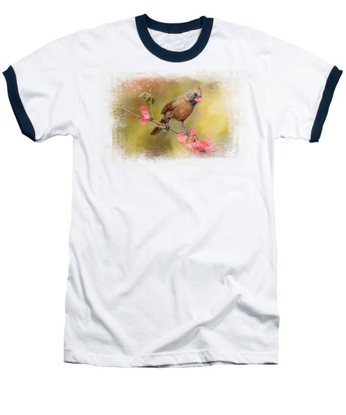 Spring Cardinal 1 Baseball T-Shirt by Jai Johnson