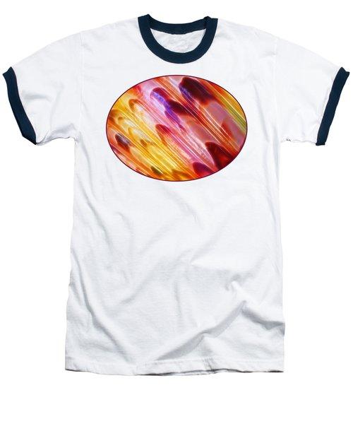 Triton Seashell Multicolor Abstract Baseball T-Shirt by Gill Billington