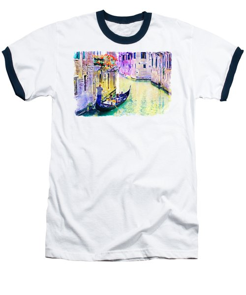 Venice Canal Baseball T-Shirt by Marian Voicu