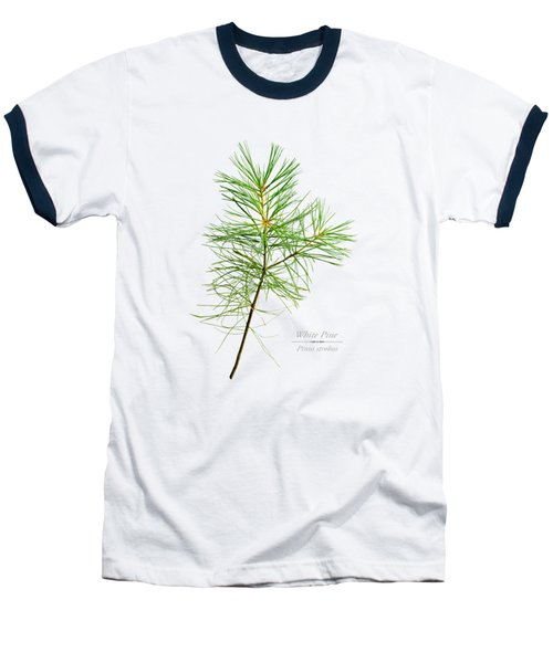 Baseball T-Shirt featuring the mixed media White Pine by Christina Rollo