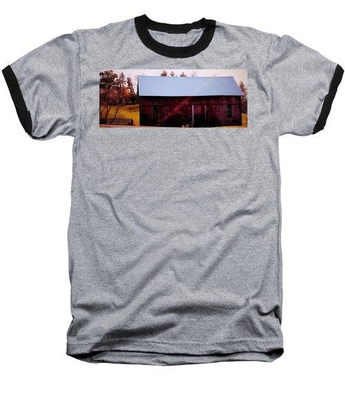 Autumn Barn Baseball T-Shirt
