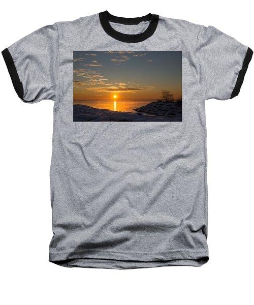 Baseball T-Shirt featuring the photograph -15 Degrees Sunrise by Georgia Mizuleva