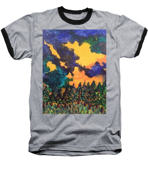 Baseball T-Shirt featuring the painting  A Hotshot Fire by Erika Chamberlin
