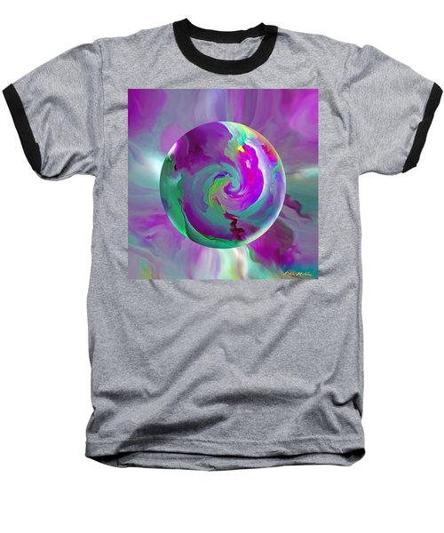 Baseball T-Shirt featuring the painting   Perpetual Morning Glory by Robin Moline