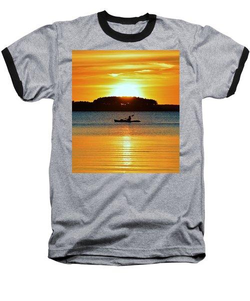 A Reason To Kayak - Summer Sunset Baseball T-Shirt