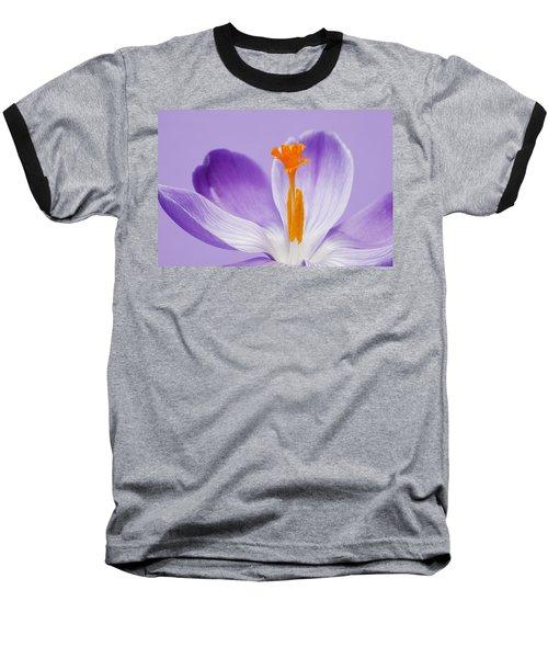 Abstract Purple Crocus Baseball T-Shirt