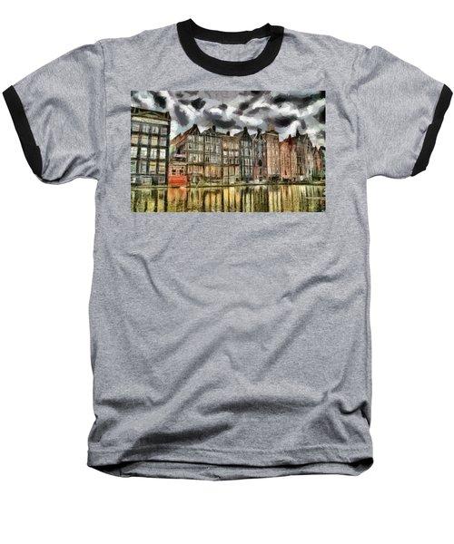 Amsterdam Water Canals Baseball T-Shirt