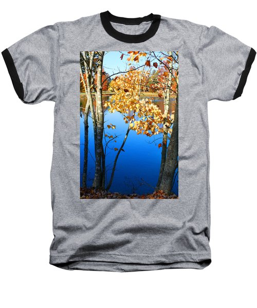 Autumn Trees On The Lake Baseball T-Shirt