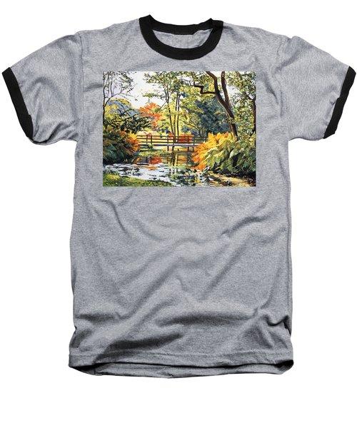 Autumn Water Bridge Baseball T-Shirt