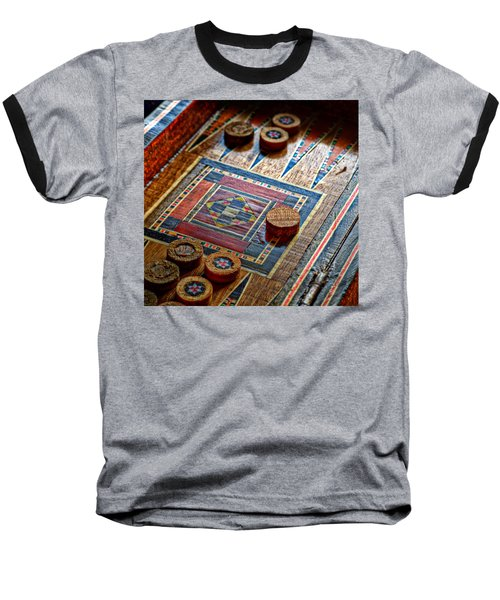 Backgammon Baseball T-Shirt by Beverly Cash
